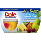 Dole Cherry Mixed Fruit No Sugar Add 16OZ 6-Pack